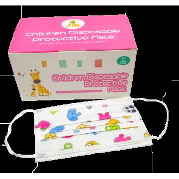 Παιδικές Μάσκες Μιας Χρήσης σε Διάφορα Χρώματα και Σχέδια (Τυχαία Επιλογή Χρώματος) 10Τμχ