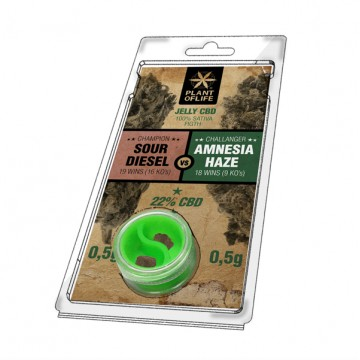 Plant Of Life | Sour Diesel vs Amnesia Haze 22% CBD Jelly (0,5gr+0,5gr)