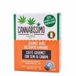 Cannabissimo | Καφές Με Σπόρους Κάνναβης 50gr (10 κάψουλες)