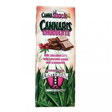 Cannashock | Σοκολάτα Γάλακτος με Γεύση Κάνναβης & Cranberry
