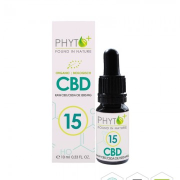 Phyto+ | Σταγόνες Ελαίου CBD 15% - 1500mg RAW Organic (10ml)