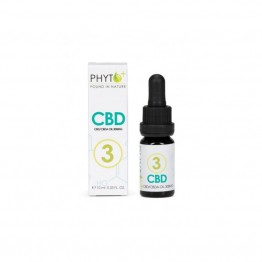 Phyto+ | Σταγόνες Ελαίου CBD 3% – 300mg RAW Organic (10ml)