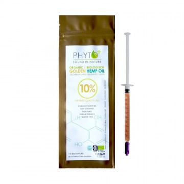 Phyto+ | Πάστα CBD Oil Golden 10% - 100mg Organic (1gr)